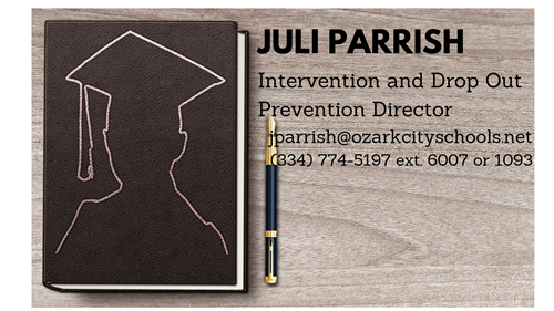 Juli Parrish, Intervention and Drop Out Prevention Director