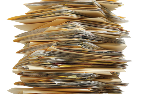 Picture of paper file records